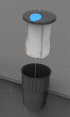 Wkład pojemnika worek wielokrotnego użytku Ekosort