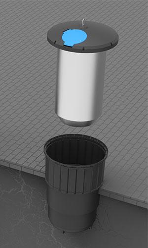 Wkład stalowy pojemnika półpodziemnego Ekosort