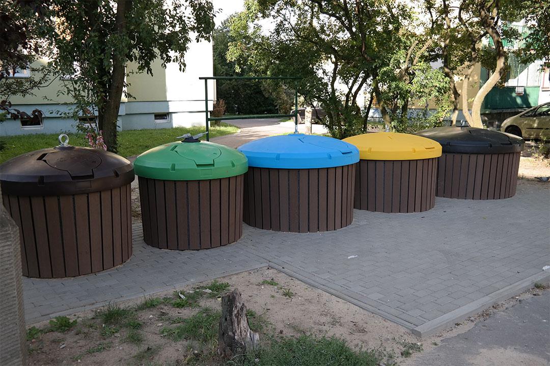Pojemnik pół-podziemny 0,8m Ekosort