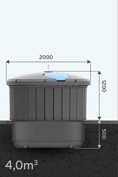Pojemnik półpodziemny Ekosort 4m